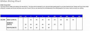 Gildan Color Chart Color Size Charts