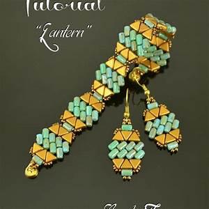 LANTERN - beading pattern, beaded bracelet and earrings ...