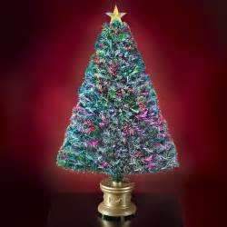 Fiber Optics Christmas Tree the 4 fiber optic twinkling tree hammacher schlemmer