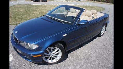 2005 Bmw 330ci Convertible For Sale~blue/tan~automatic