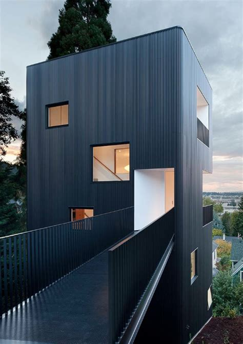 tower house invoking medieval values modern architecture