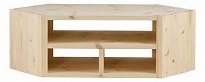 Meuble De Tele D Angle : meuble tv d 39 angle design pin massif brut 3 niches matendance grenier alpin ~ Nature-et-papiers.com Idées de Décoration