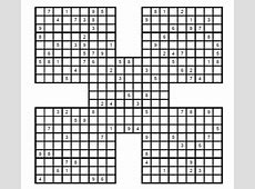 Sudoku Samurai medio para imprimir 2 Sudoku gratis para