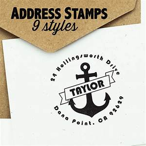 personalized self inking return address stamp bellechic With free return address stamp