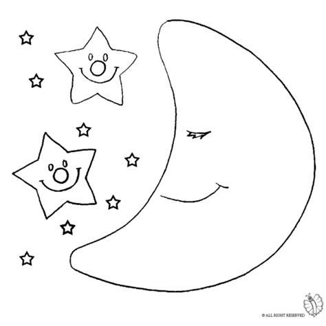 disegno  luna  stelle da colorare  bambini
