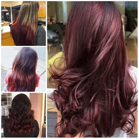 cherry hair colors ideas  pinterest black