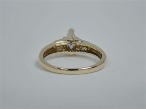 14k Yellow Gold Engagement Ring 1/2 Cttw Diamond 2