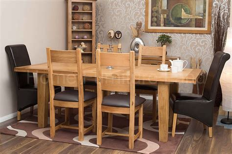 50% Off Rustic Oak Table And Chairs  Large Extending