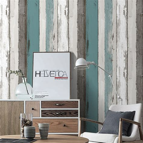 wood panel peel stick wallpaper   ft blueblack