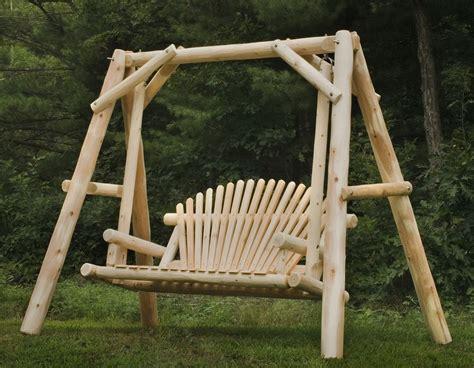 made outdoor cedar log furniture by briar hill rustic