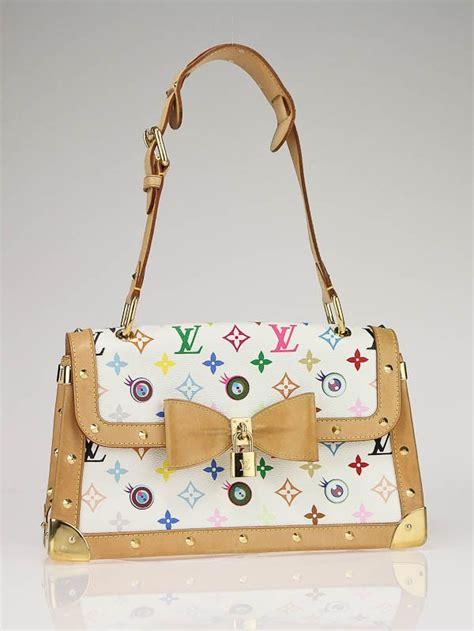 louis vuitton white monogram multicolore eye   bag yoogis closet