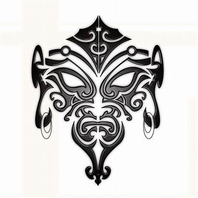 Maori Tattoo Face Designs Stencil Cool Drawing