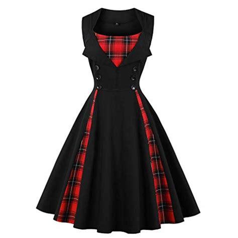 Wst 20221 Black Swan V Neck Dress tartan clothes co uk
