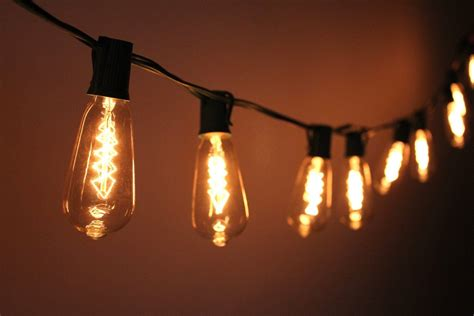 edison bulb string lights indoor outdoor string lights insteading