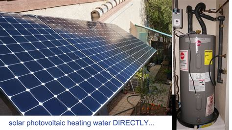 Solar Heating Drapes - 1 3kw solar panels pv to heat water directly solar pv