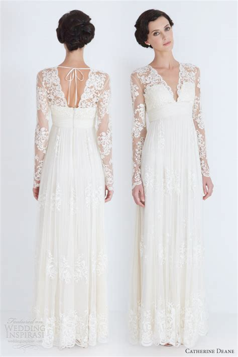 wedding dresses with sleeves and lace catherine deane wedding dresses 2012 wedding inspirasi