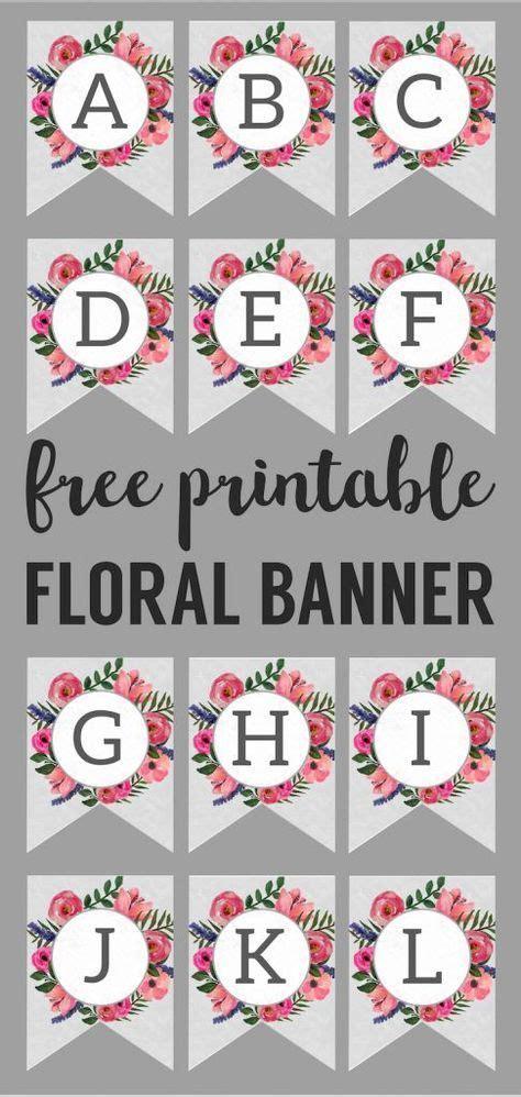 floral alphabet banner letters printable banner