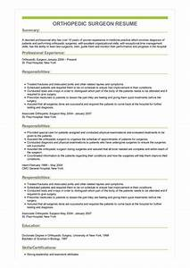 Objectives For Job Resumes Sample Orthopedic Surgeon Resume