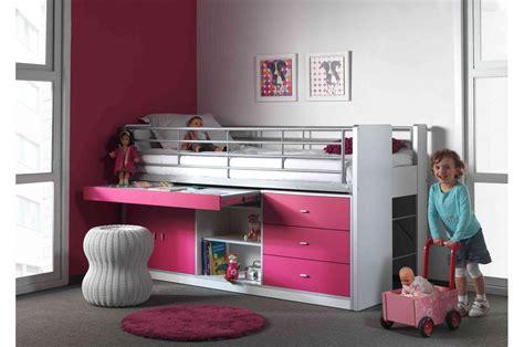 bureau et rangement lit combiné 5 coloris au choix 90x200 cm bureau