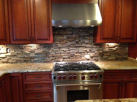 kitchens  stone backsplash designs