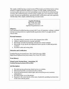 certified nursing assistant resume objective bookkeeper With cna objective