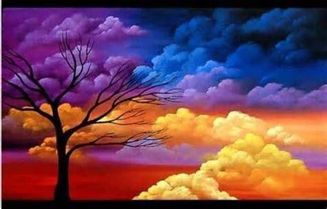 colored clouds colored clouds clouds painting landscape paintings