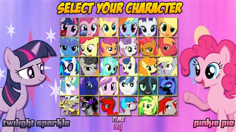 Mlp Characters My Little Pony Main Characters Names