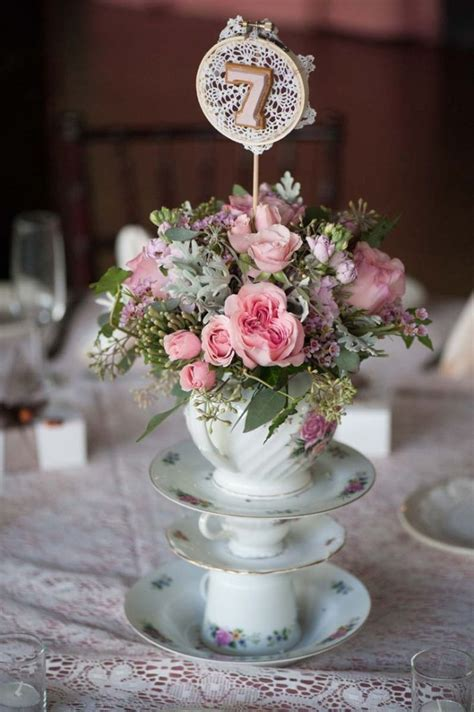 shabby chic wedding table centerpieces pin teapot centerpieces wedding cake on pinterest