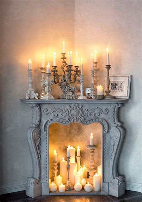 candles in fireplace ideas 20 romantic fireplace candle ideas home design and interior