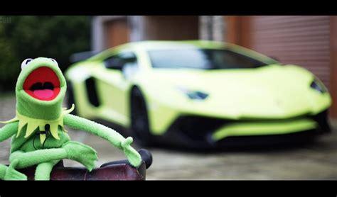 kermit  frogs epic lamborghini aventador sv