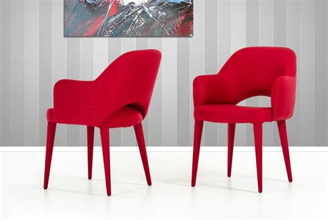 modrest williamette mid century red fabric dining chair