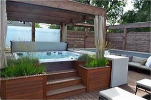 bilder whirlpool garten pflanzen sichtschutz sonnenschutz With whirlpool garten mit sonnenschutz balkon ideen