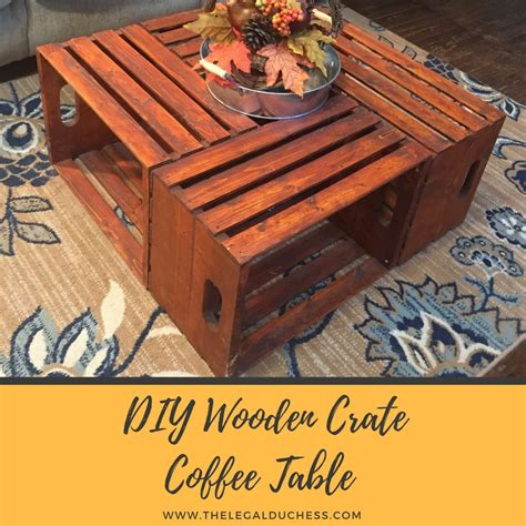 Even better is the fact that this baby is on casters for easy maneuvering! DIY Wooden Crate Coffee Table - The Legal Duchess