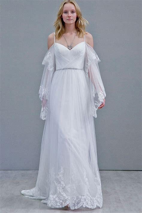 fall  wedding dresses revealed  bridal trends