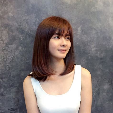 medium length bob hairstyle  asian girls  styles