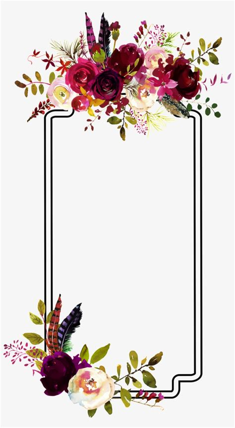 fashion flower border decoration vector flower