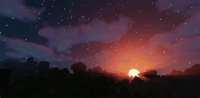 Minecraft Night Sunset Tonight
