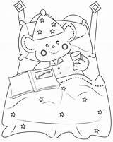 Bedtime Coloring sketch template