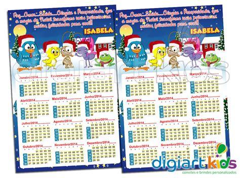 Calendário Imã Natal Galinha Pintadinha DigiArt Kids Elo7