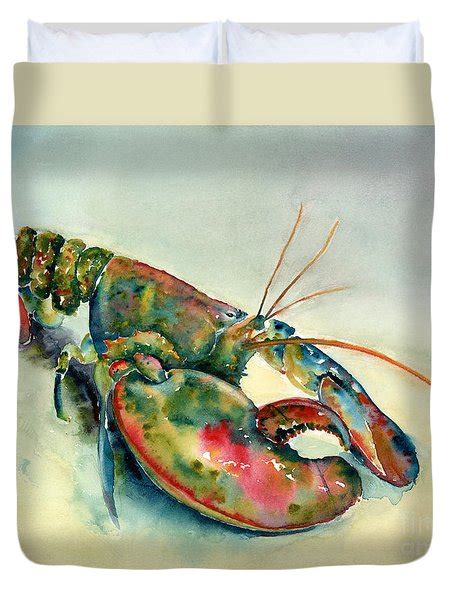 painted lobster painting by kirkpatrick
