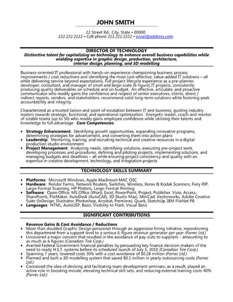top executive resume templates sles