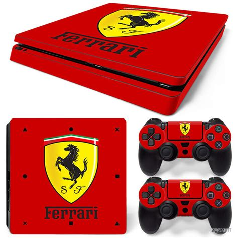 ps slim playstation  console skin decal sticker ferrari