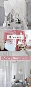 Dreamy, Diy, Canopy, Bed, Ideas, U2022, Ohmeohmy, Blog