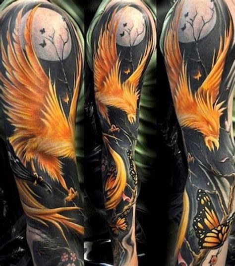 tatouage phoenix torse cochese tattoo