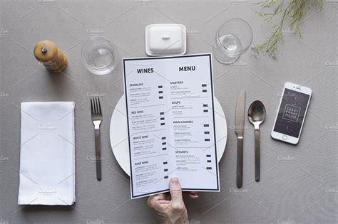 Get your free mockups here. Restaurant menu mockup ~ Product Mockups ~ Creative Market