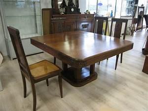 Table A Manger Rectangulaire : table de salle a manger rectangulaire en noyer ~ Teatrodelosmanantiales.com Idées de Décoration