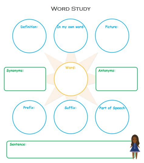 graphic organizer templates for microsoft word vocabulary study graphic organizers free templates