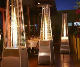 2015 pyramid type decorative flame gas patio heater view