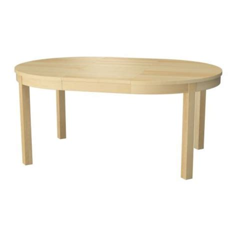 bjursta extendable dining table bjursta extendable table birch veneer tables oval