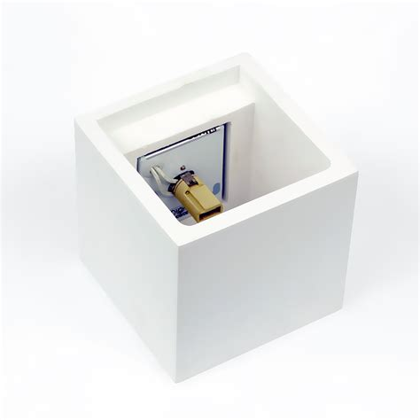 ceramic led cube shape wall light quot plaster 2 quot g9 3w 250lm